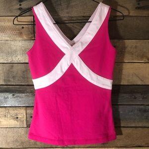 Lululemon pink athletic tank top